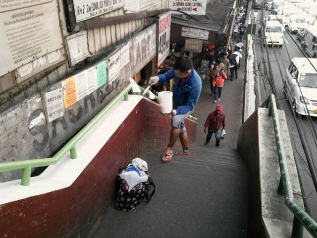 He's a Japanese National, yet he chose to paint an Overpass in the Philippines for free! This is unbelievable!