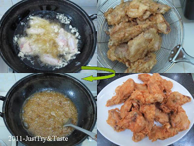 Resep Sayap Ayam Manis & Renyah a la Korea JTT