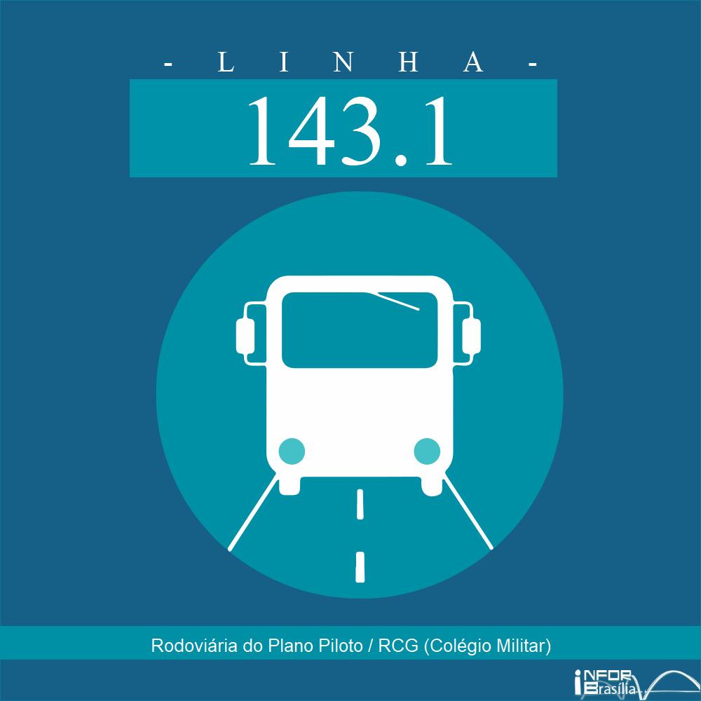 Horário de ônibus e itinerário 143.1 - Rodoviária do Plano Piloto / RCG (Colégio Militar)