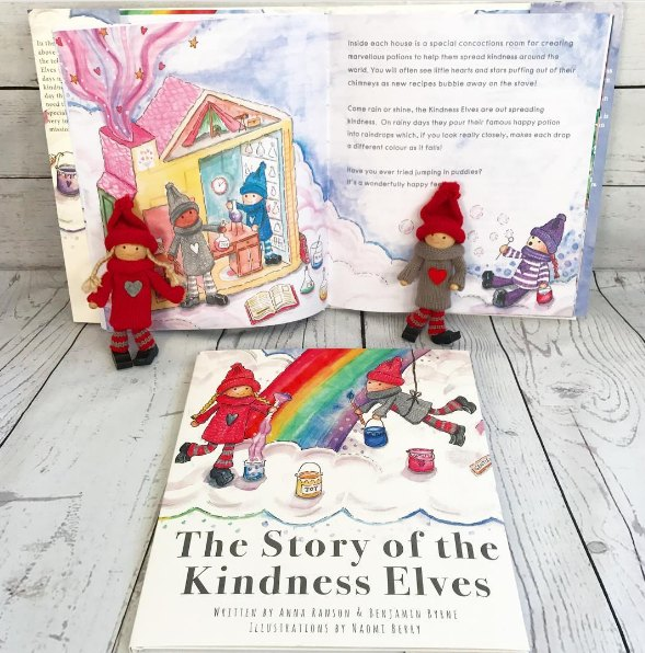 The Kindness Elves Review - Heart Wreath Craft for Kids