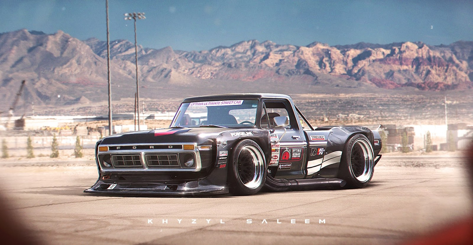 widebody 1970s ford f series rendering is out of this world you can ken block carscoops. Black Bedroom Furniture Sets. Home Design Ideas