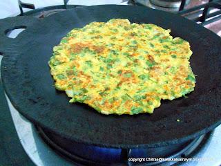 Spinach Adai [ Spinach Pancake ]