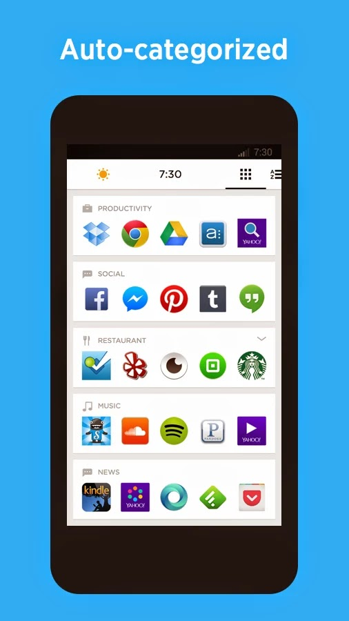 Aplikasi Yahoo Aviate Launcher