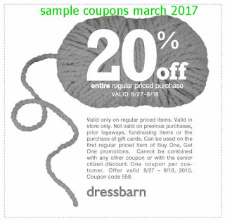 Dress Barn coupons march 2017