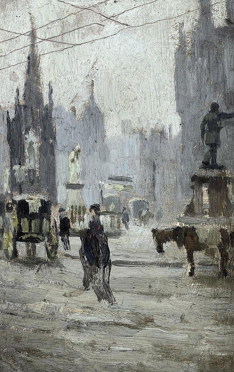 Adolphe  Valette  c  Study  for  Albert  Square