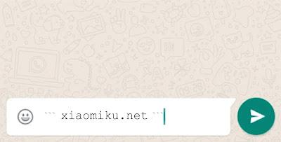 cara membuat tulisa whatsapp berubah