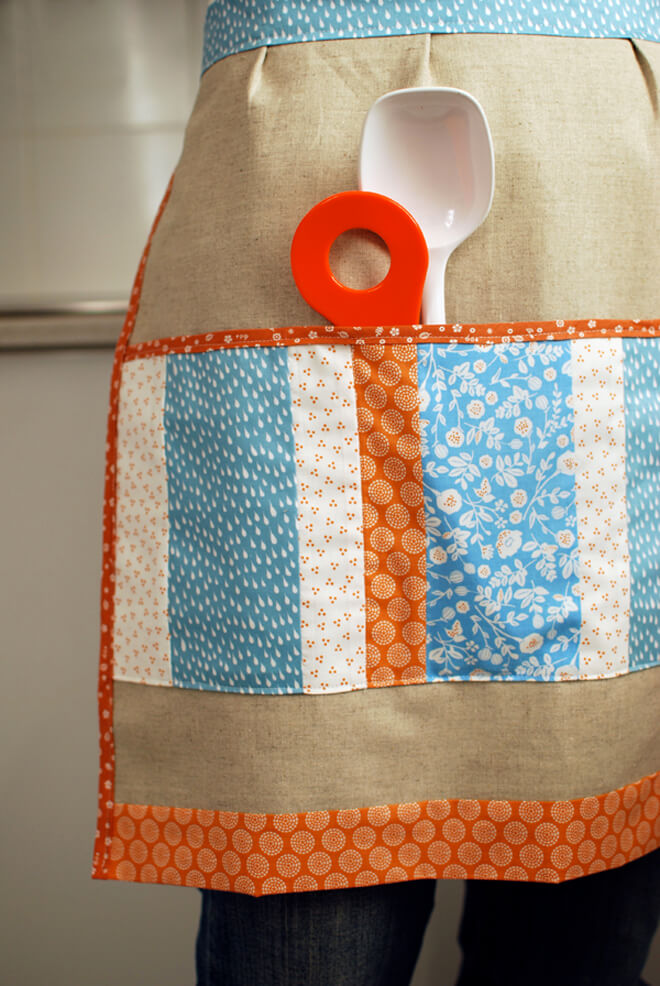Patchwork Pocket Apron