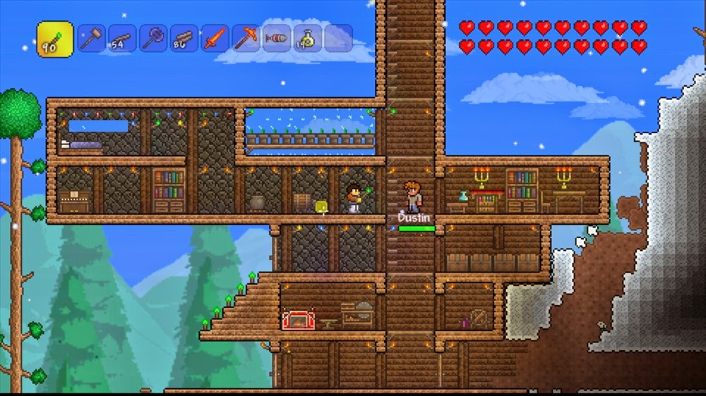 How to build a house in terraria xbox one