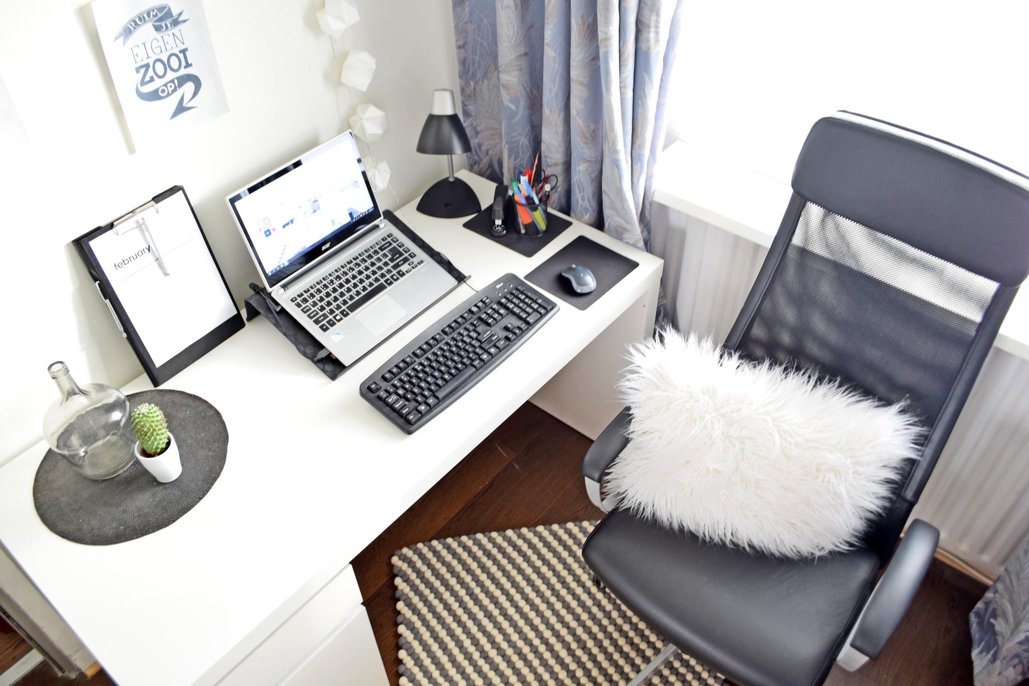 aranżacja biurka w domu