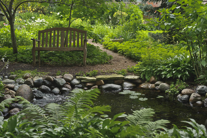 Aquascape your landscape come set a spell for Setting up a garden pond