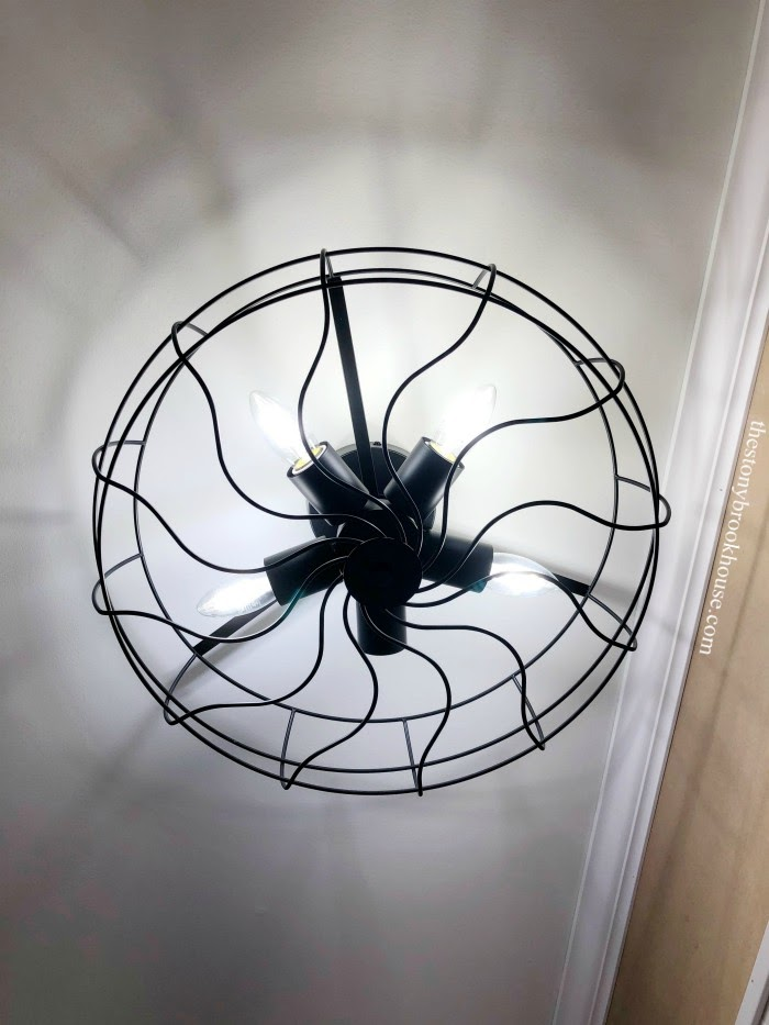 Faux Fan light fixture