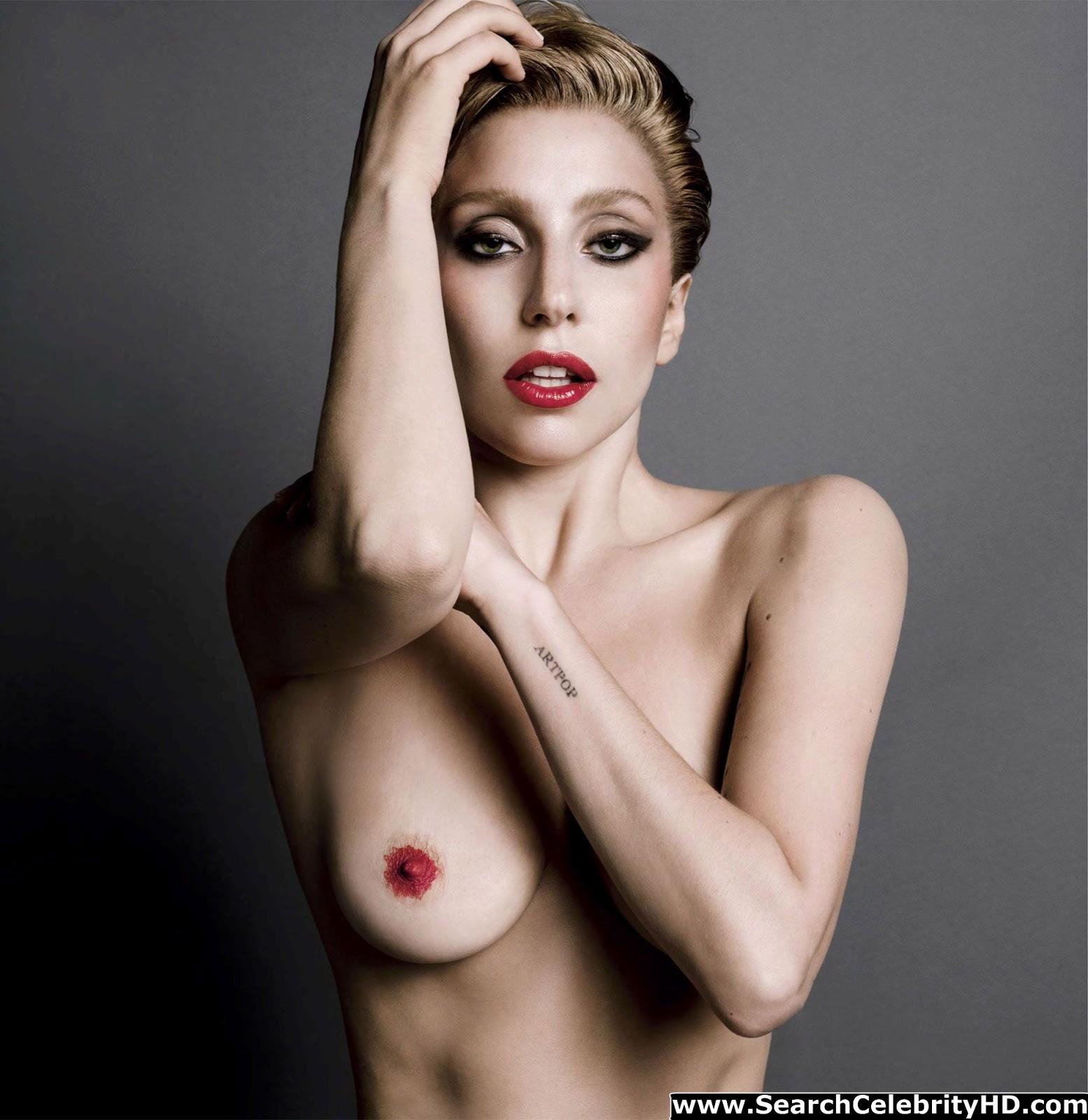 v magazine gaga naked Lady