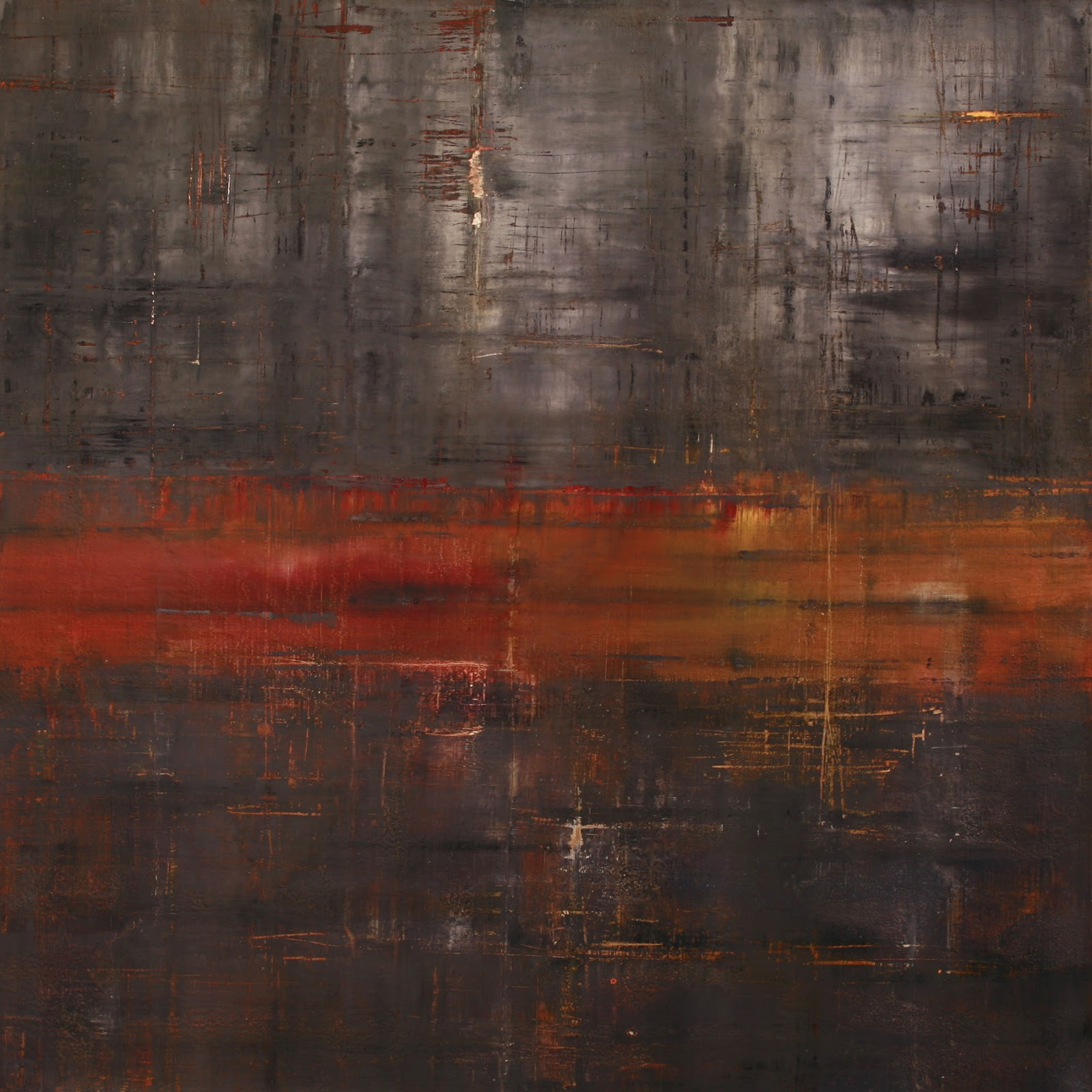 Image of the abstract painting entitled Titan by artist Martha Hope Carey
