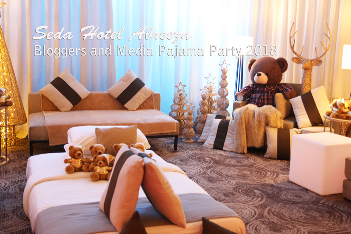 Beautiful bedroom set-up during bloggers and media PJ night