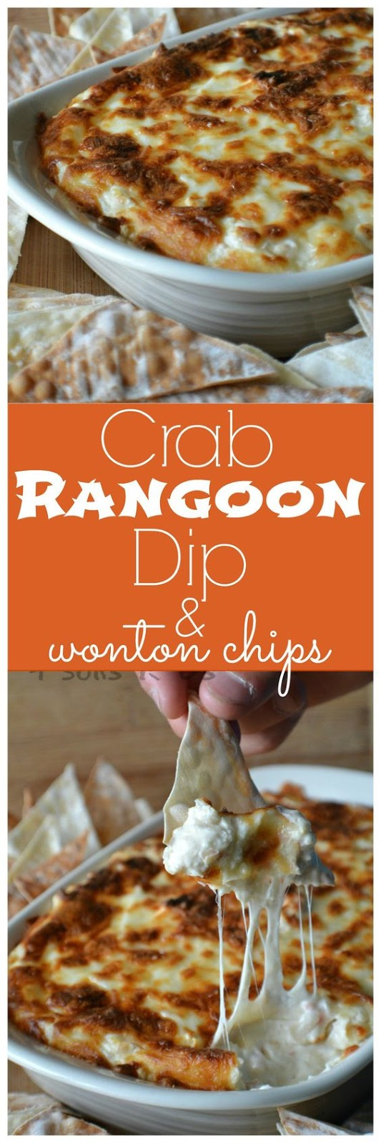 CRAB RANGOON DIP WITH WONTON CHIPS RECIPE
