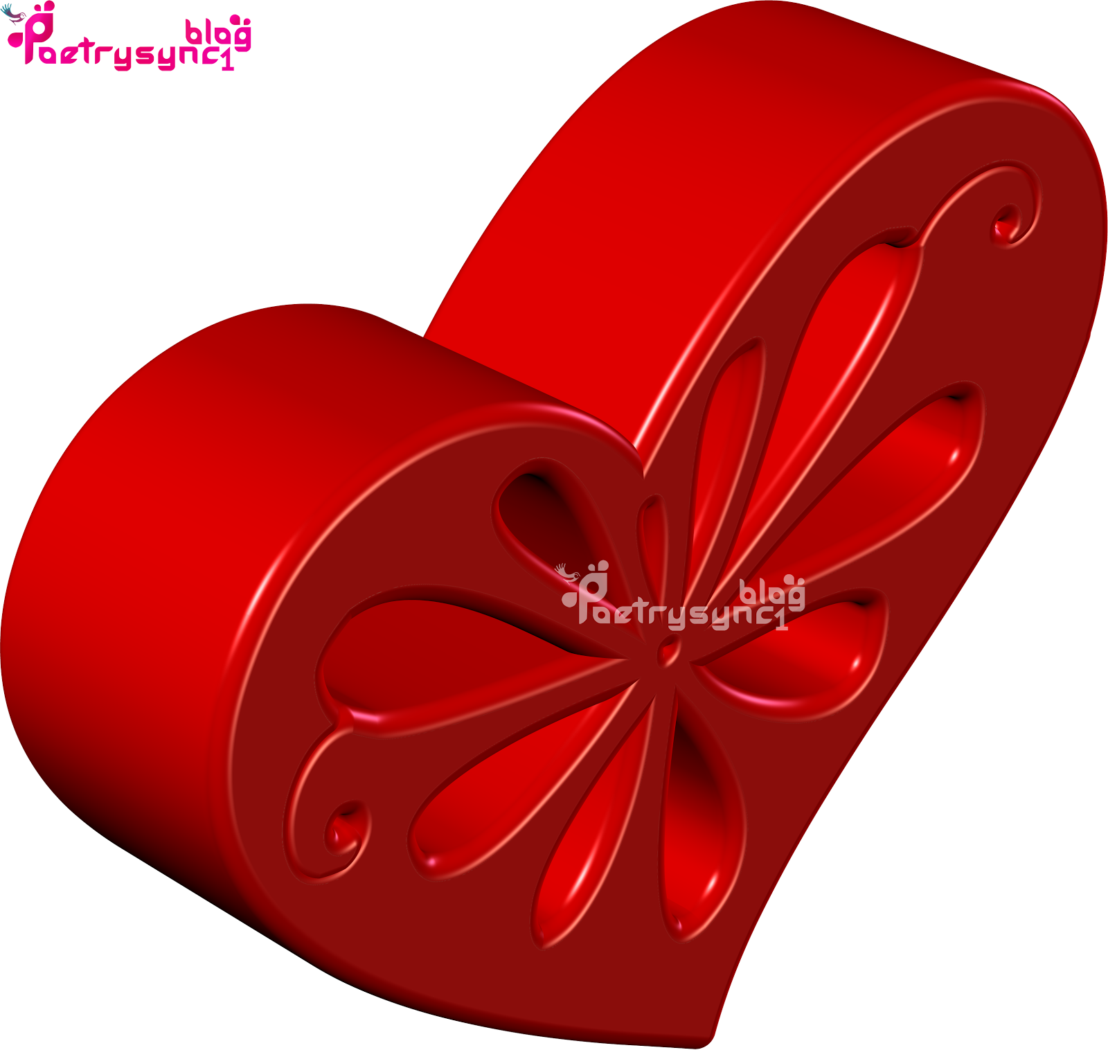 Love 3D Heart Image Wallpaper In Red Colour By Poetrysync1.blog