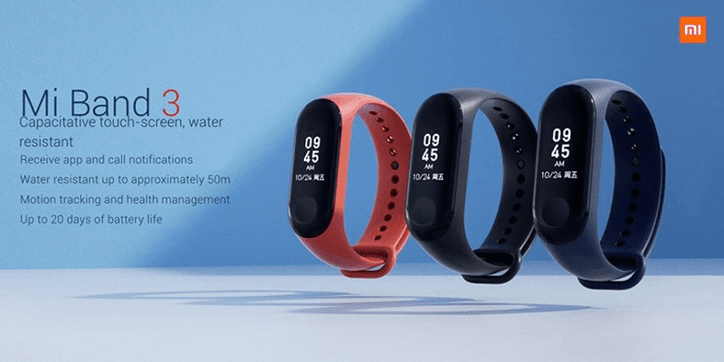 Xiaomi Mi Band 3 with water resistance and NFC launched!