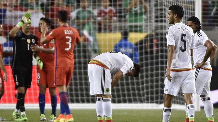 Chile humilla 7-0 a México