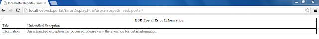 ESB error information