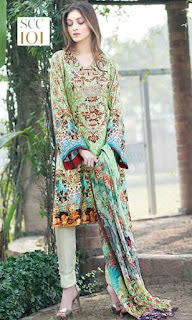 Shaista Digital Embroidered Shamose Collection 2017-18