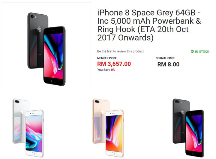 iPhone 8 Hanya RM3,657 Sen Heng Online