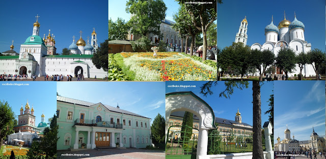 Viaje a Rusia: monasterio de Sergiev Posad, varios edificios del complejo