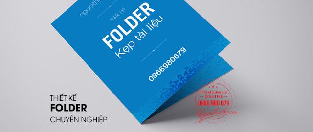 DIch vụ thiết kế folder kẹp tài liệu chuyên nghiệp
