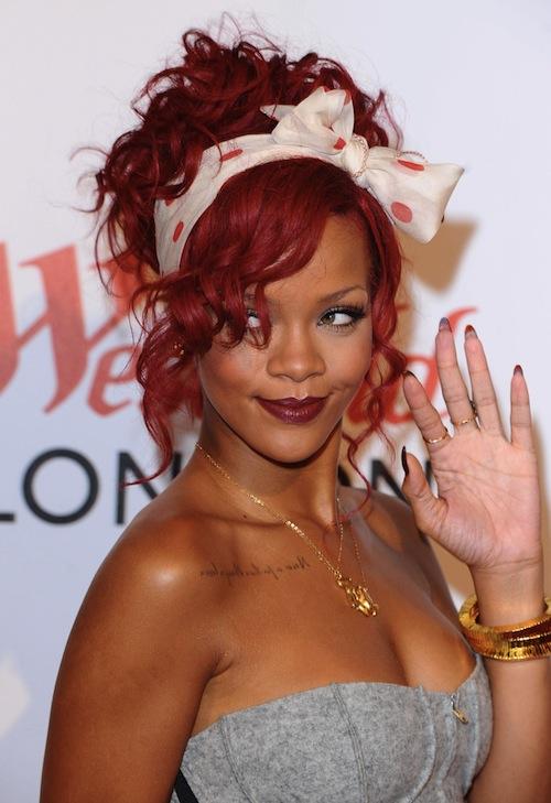 Rihanna Red Hair  Rihanna Red Hai...