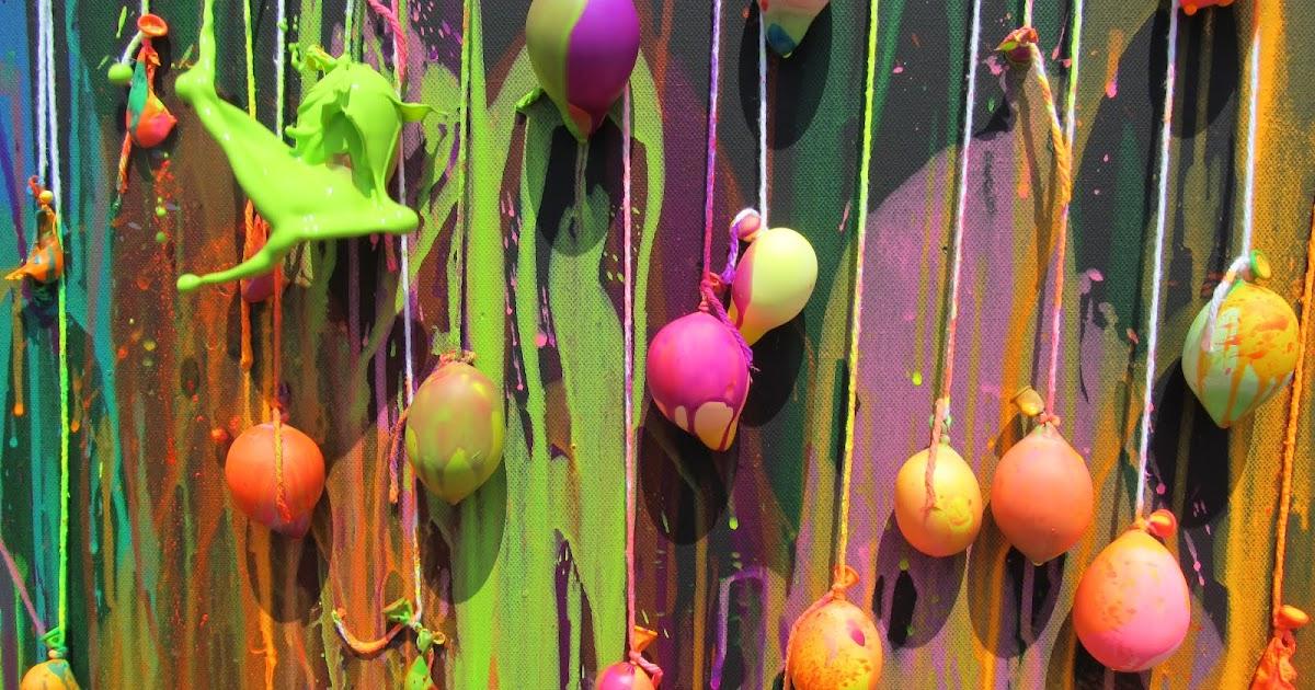 Julie Water Balloon Dart Painting