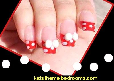 Minnie Mouse Press Stick On Nail Tips