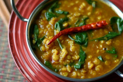 Slow Cooker Chana Dal with Spinach from Everyday Maven found on SlowCookerFromScratch.com