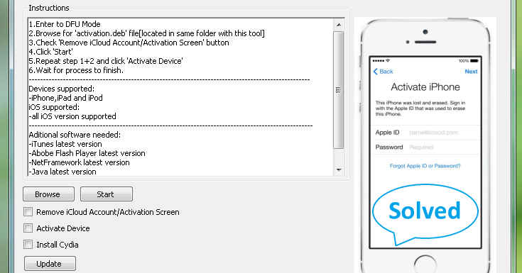 Bypass iOS 7 1 2 Activation Lock Without Apple ID (Tool with New