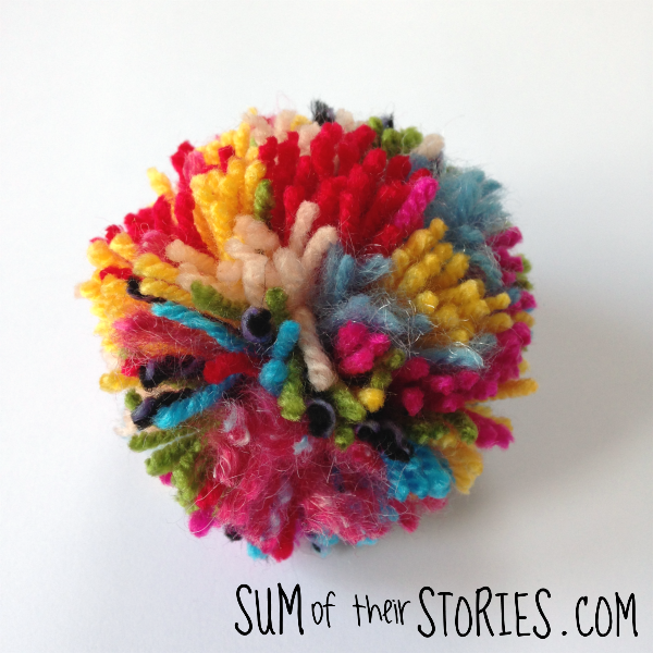 How to make rainbow pom poms