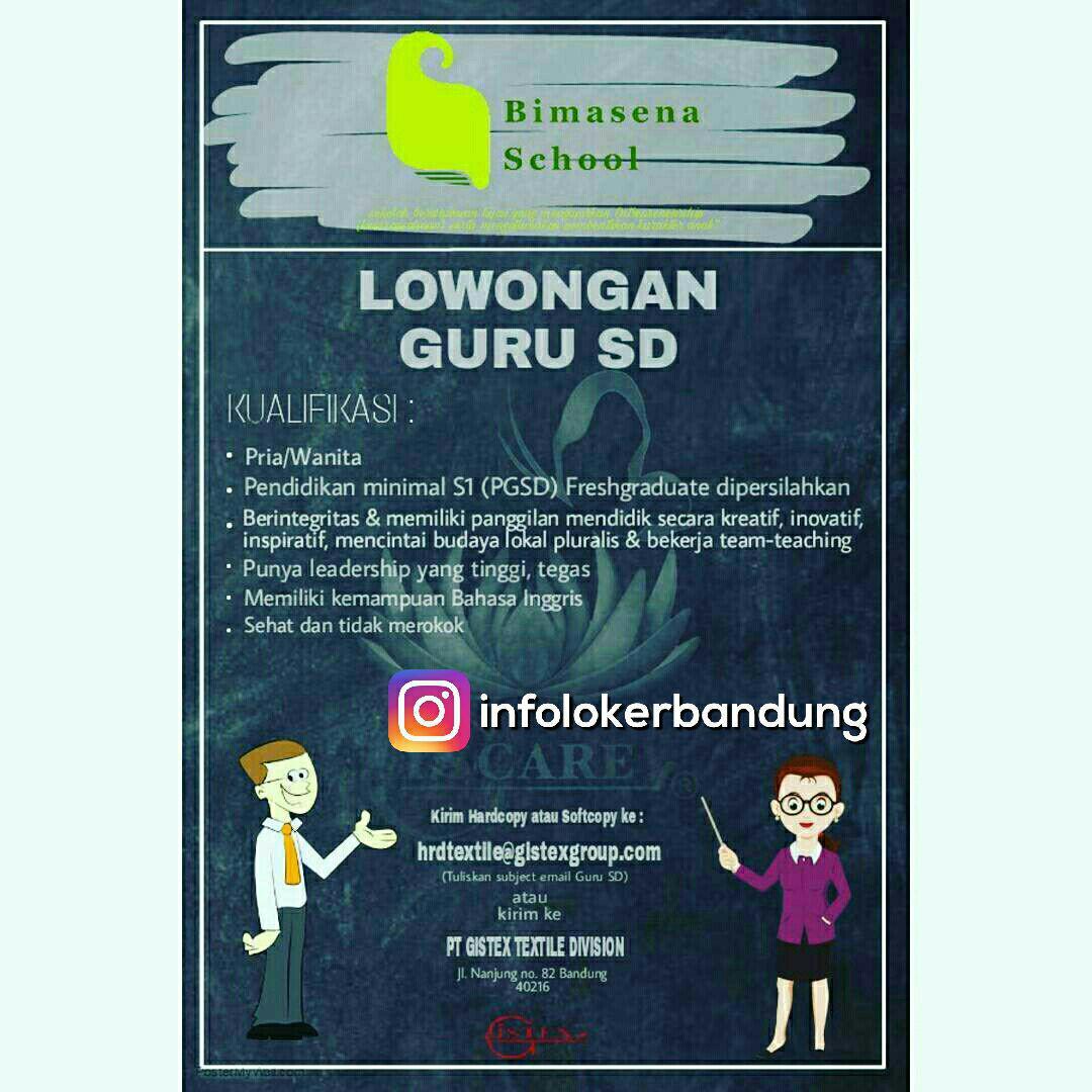 Lowongan Guru SD Bimasena School Bandung Mei 2017