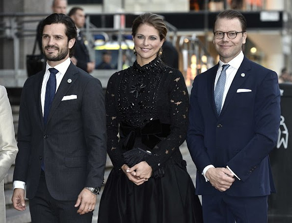 King Carl Gustaf, Queen Silvia, Princess Madeleine, Prince Carl Philip and Prince Daniel attended a concert by the Royal Stockholm Philharmonic Orchestra