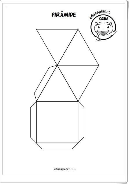 DESARROLLOS DE CUERPOS GEOMÉTRICOS (Fichas de Matemáticas de Primaria)