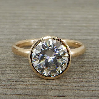 large moissanite ring