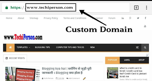 Blog address kya hota hai