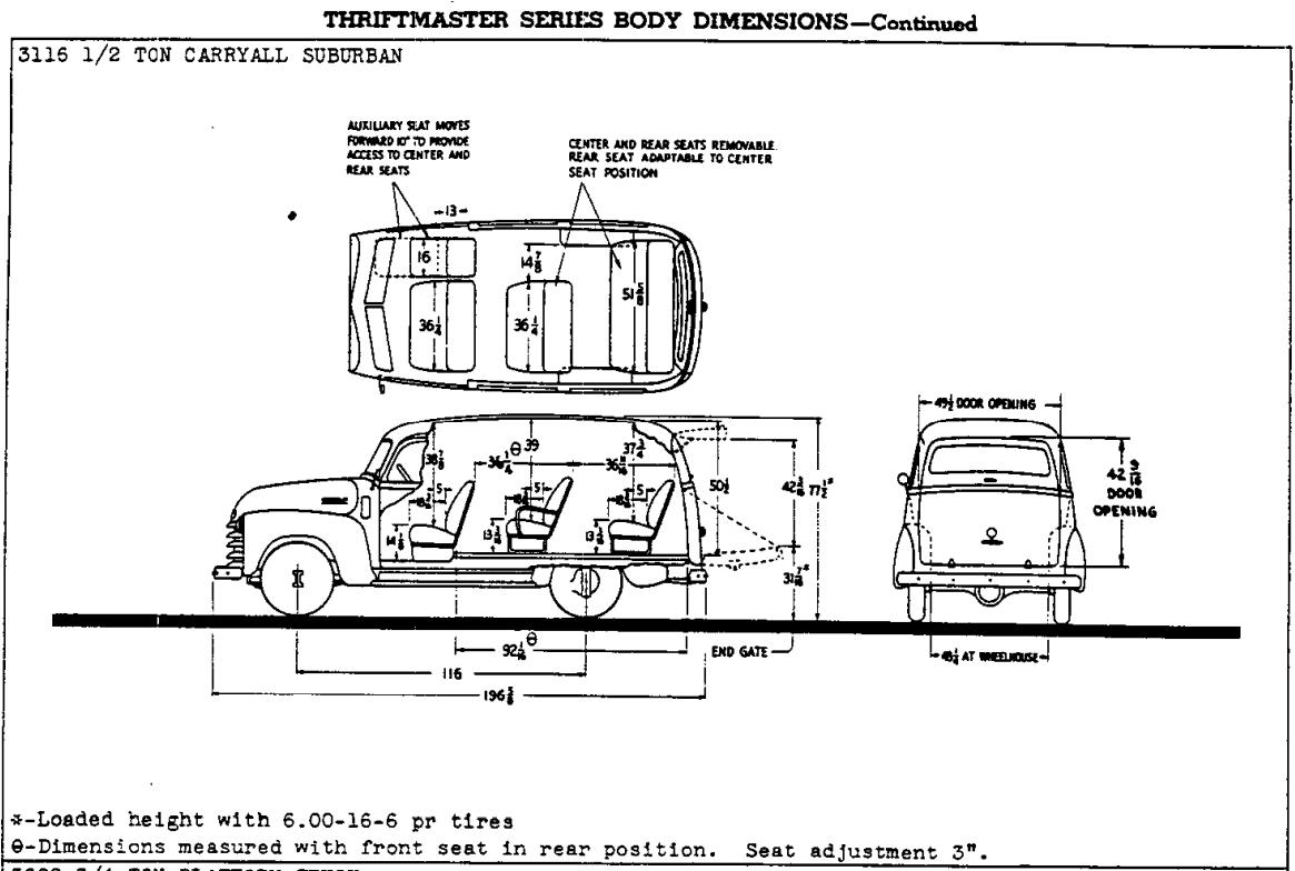 First Series Chevrolet Suburban Body