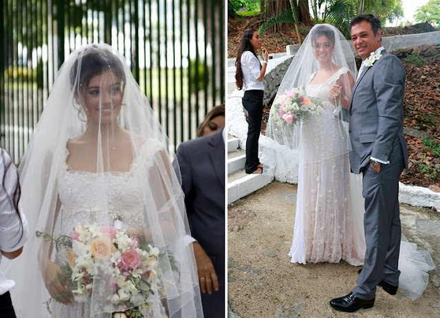 Sophie Charlotte vestido de noiva grávida