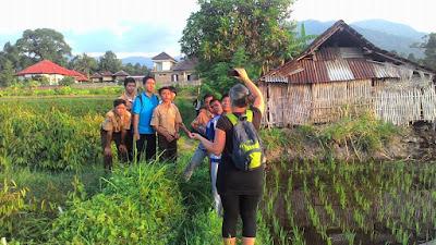 Avondlicht fotowandeling door de rijstvelden