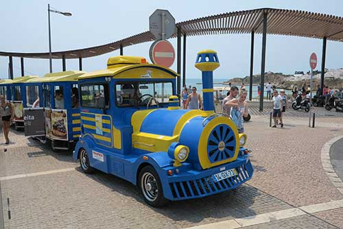 Albufeira Toy Train, Albufeira, Algarve, Portugal.