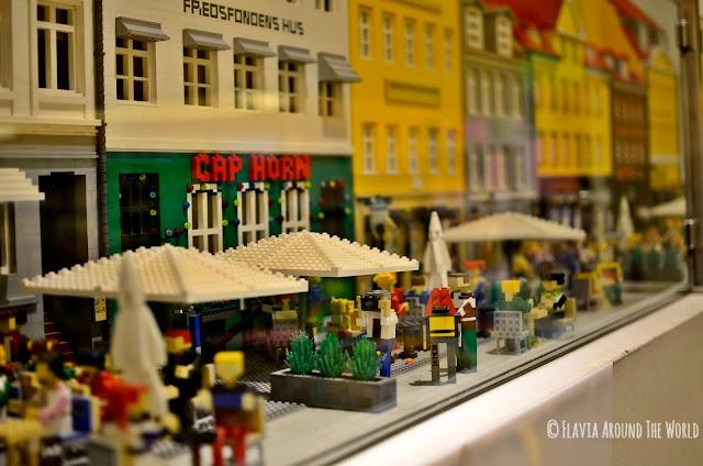 Nyhavn de Copenhague hecho con LEGO
