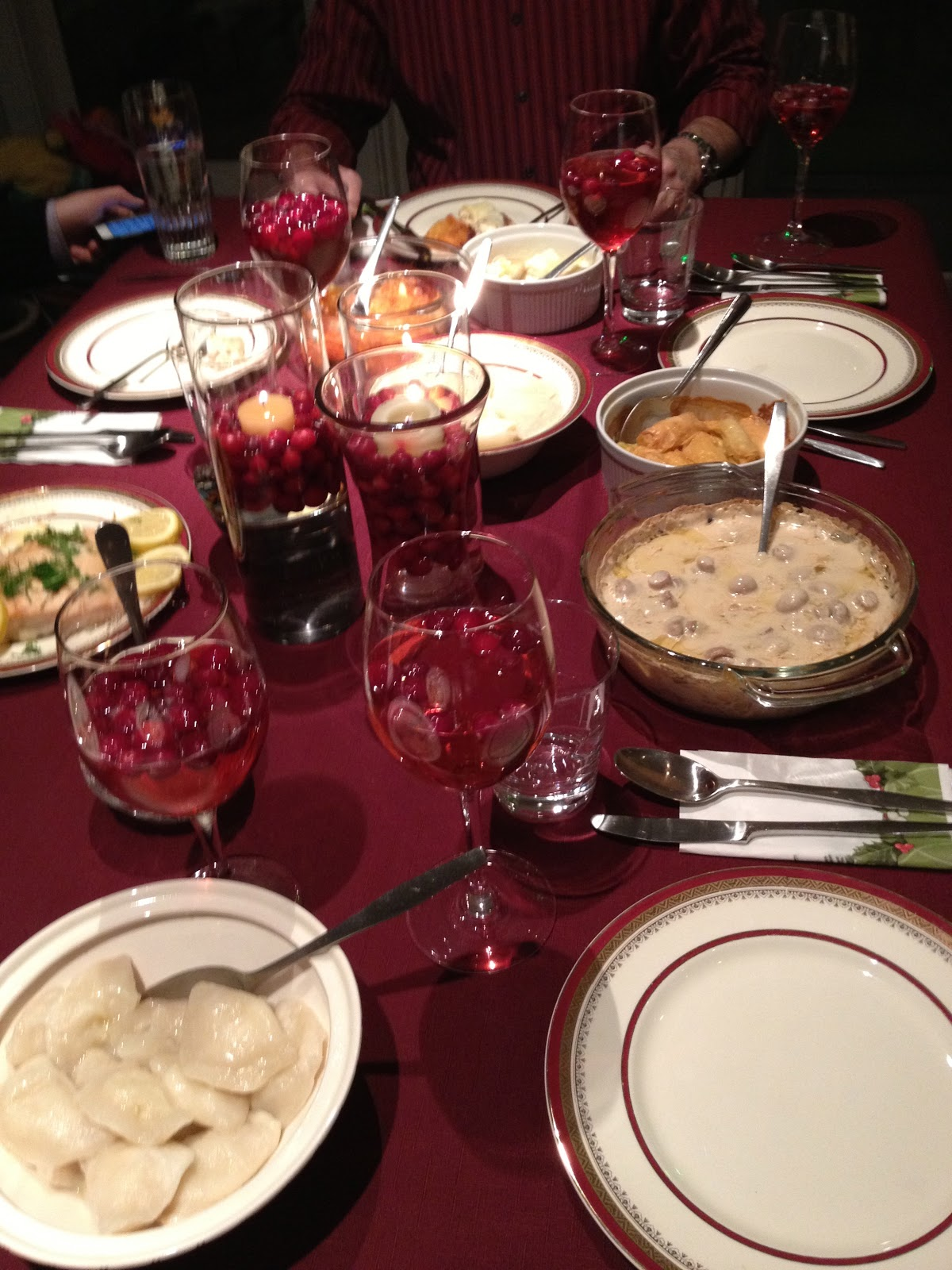 Meatless christmas eve dinner