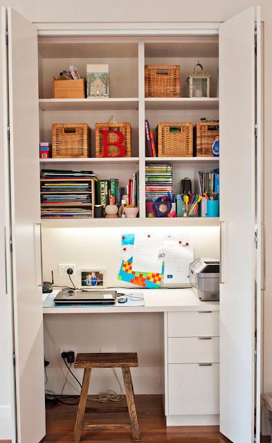 home office no armário