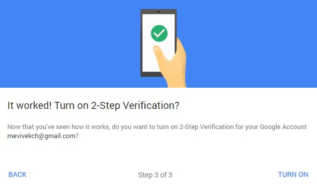 Turn on 2-step verification