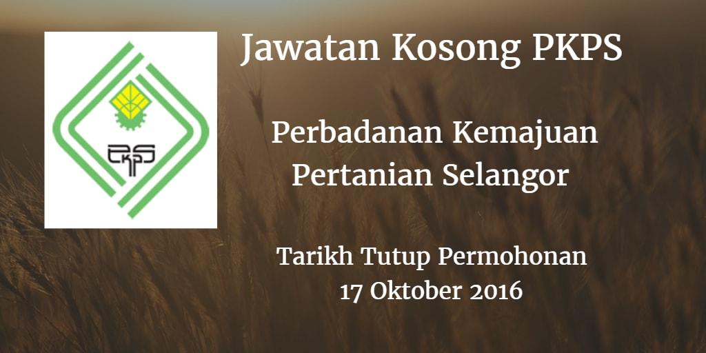 Jawatan Kosong PKPS 17 Oktober 2016
