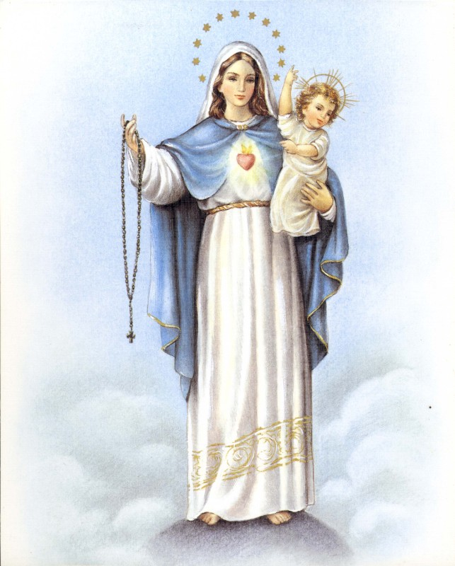 Our Lady Of The Rosary October 7 Variations Associated With Because Color Or Virtue Purity Dried Blueberries