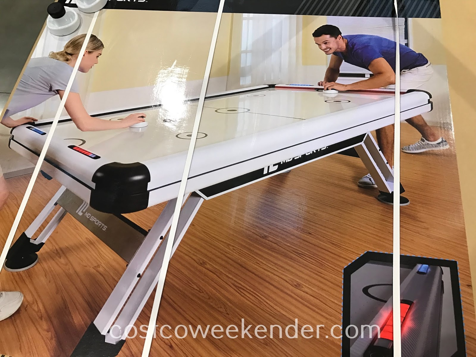 Family competition can be fierce with the MD Sports Air Hockey Table
