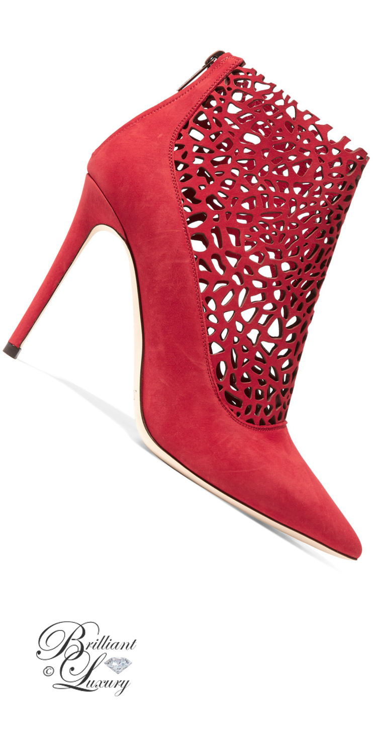 Brilliant Luxury ♦ Jimmy Choo Maurice Laser-Cut Suede Boots